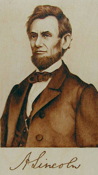 Abe Lincoln Drawing - Abe Lincoln Signature Portrait by Cate McCauley