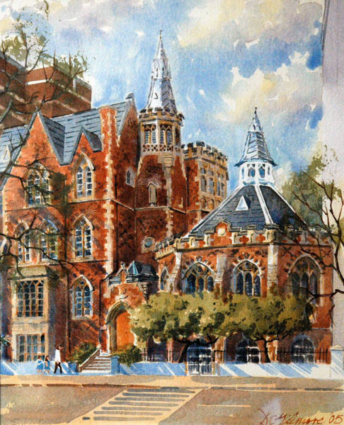 Painting - Abercorn-the Old Grammar School by David Gilmore