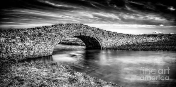 Bridge Bank Photograph - Aberffraw Bridge V2 by Adrian Evans