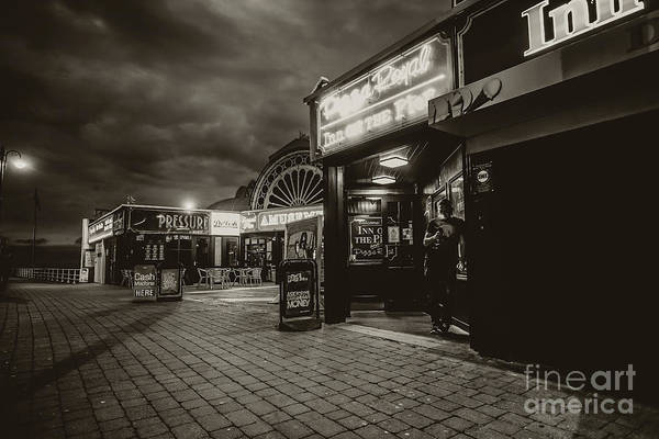 Photograph - Aberystwyth Pier At Night by Keith Morris