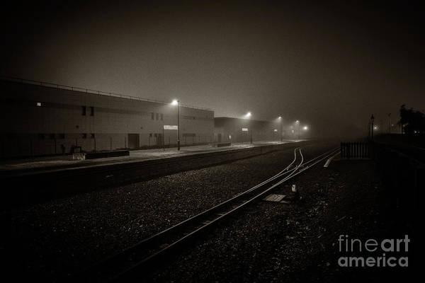 Photograph - Aberystwyth Railway Station On A Misty Night by Keith Morris
