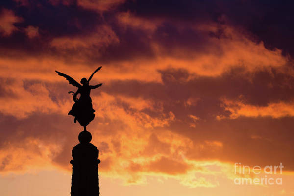 Photograph - Aberystwyth War Memoria At Dusk by Keith Morris