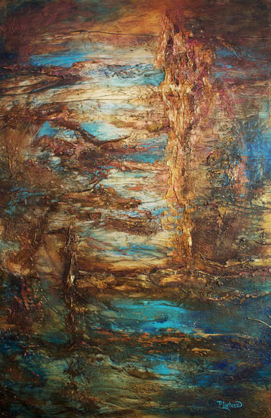 Bronze Painting - Lagoon by Patricia Lintner