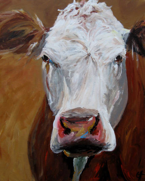 Wall Art - Painting - Abigail The Cow by Cari Humphry