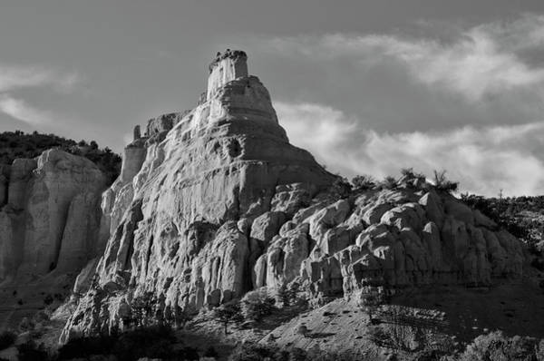 Photograph - Abiquiu Landscape V Bw by Dave Gordon