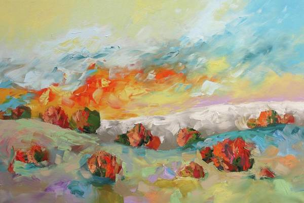 Monfort Painting - Ablaze by Linda Monfort