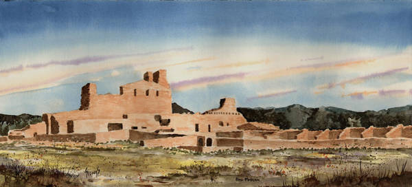 Spanish Missions Wall Art - Painting - Abo Mission by Sam Sidders