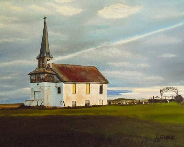 Wall Art - Painting - Abondoned Church by Janet Guss