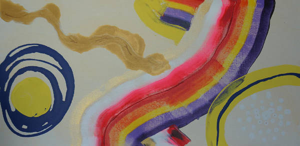 Painting - Aboriginal Abstract - Ozzie Rainbow by Adam Asar