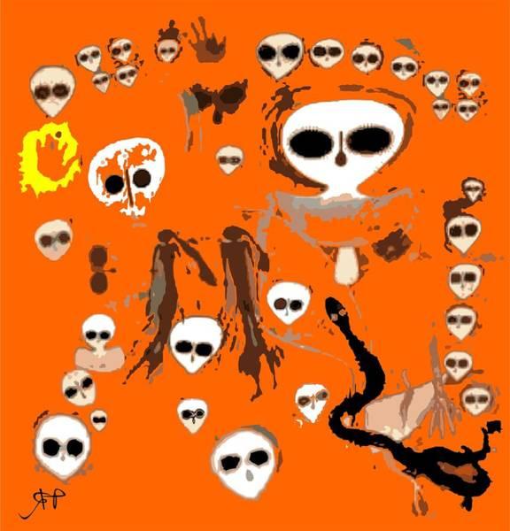 Ufo Digital Art - Aboriginal Aliens  by Raphael Terra