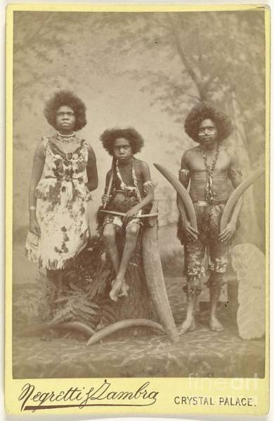 Aborigine Painting - Aborigines  by Celestial Images