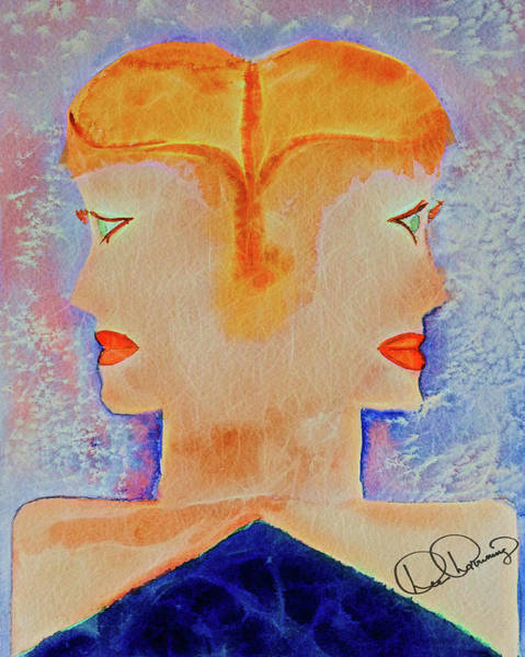 Painting - About Face Watercolor by Dee Browning