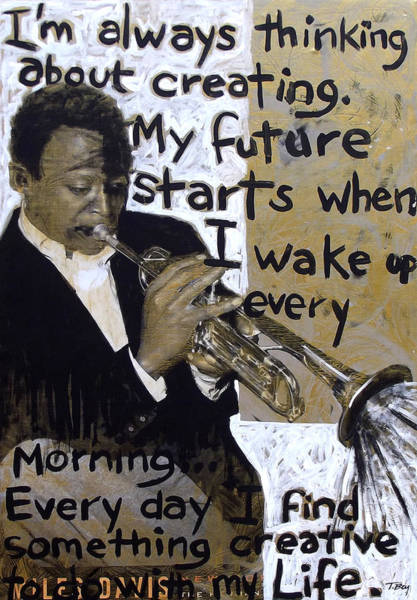 Trumpet Mixed Media - About My Future by Tamerlane Bey