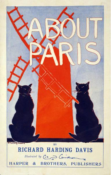 Wall Art - Mixed Media - About Paris - Richard Harding Davis - Vintage Book Advertising Poster by Studio Grafiikka