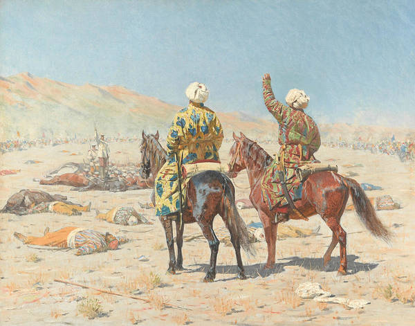 Painting - About War by Vasily Vereshchagin