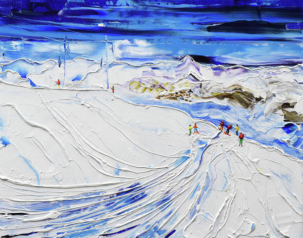 Painting - Above Arare Snowpark by Pete Caswell