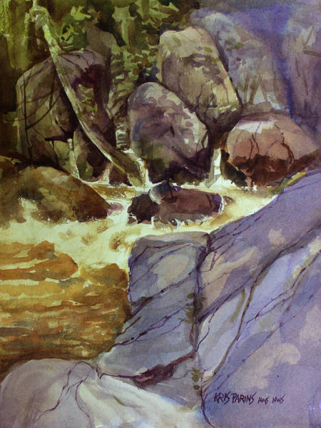 Wall Art - Painting - Above Daves Falls by Kris Parins