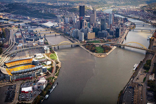 Above Pittsburgh In  Color  Art Print