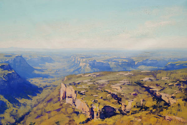 Three Sisters Wall Art - Painting - Above The Capertee Valley by Graham Gercken