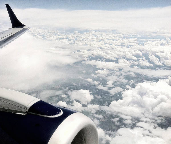 Jetblue Wall Art - Photograph - Above The Clouds by Jane Merrit
