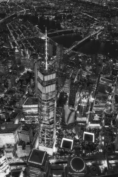 Photograph - Above The Freedom Tower Wtc Bw by Susan Candelario