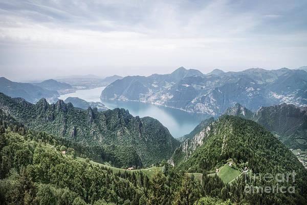 Hazy Wall Art - Photograph - Above The Silver Lake by Evelina Kremsdorf