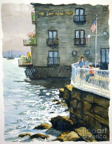 Sausalito Painting - Above Tide Hotel by John West