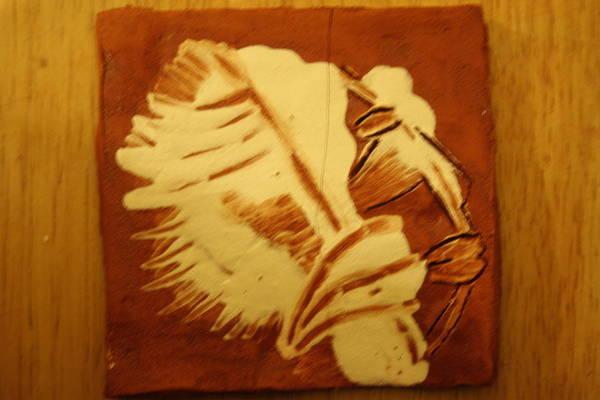 Ceramic Art - Abraham - Tile by Gloria Ssali
