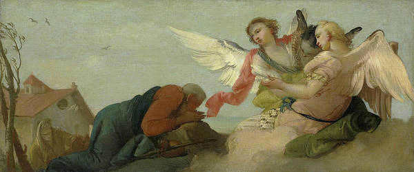 Painting - Abraham And The Three Angels by Francesco Zugno