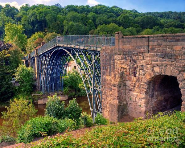 Wall Art - Photograph - Abraham Derbys Iron Bridge Rural Landscape by Chris Smith