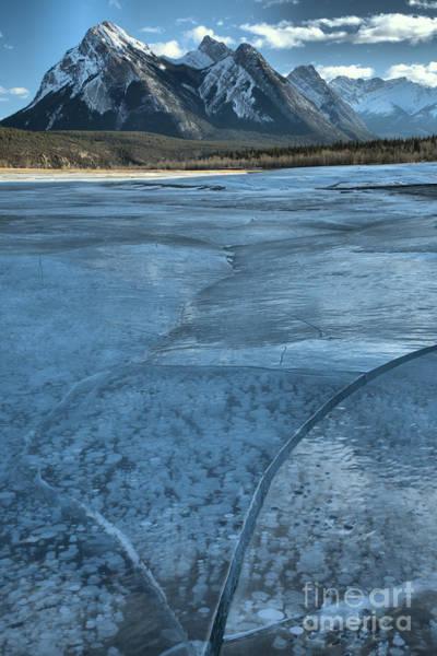 Photograph - Abraham Lake Winter Ice by Adam Jewell