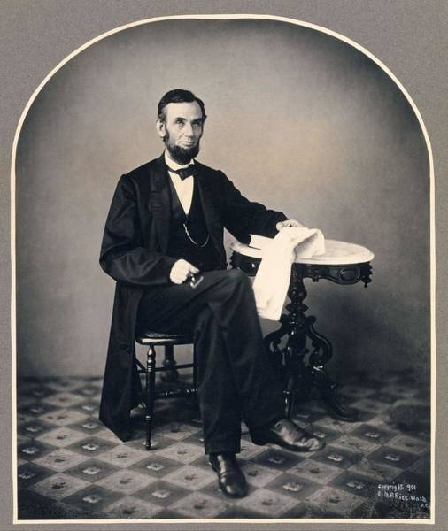 Wall Art - Painting - Abraham Lincoln , Alexander Gardner by Celestial Images