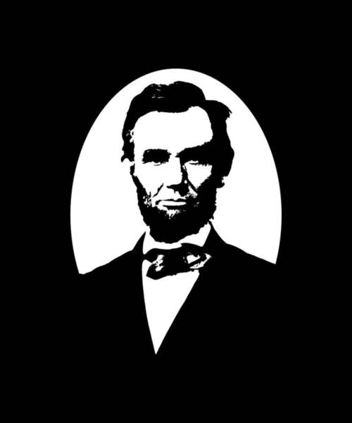 Lincoln Digital Art - Abraham Lincoln - Black And White by War Is Hell Store