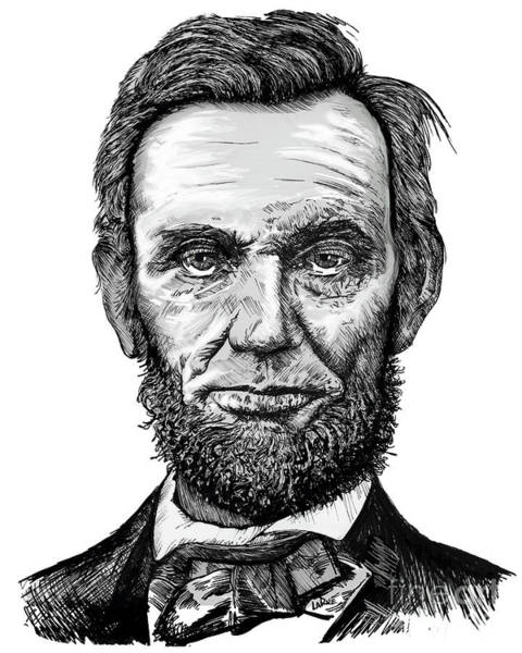Abe Lincoln Drawing - Abraham Lincoln by Doug LaRue