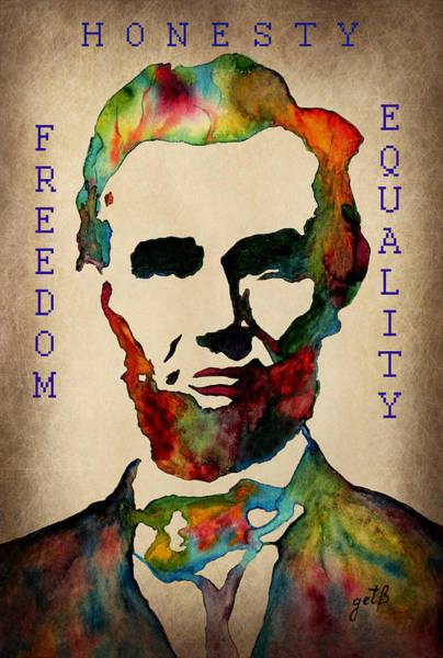 Painting - Abraham Lincoln Leader Qualities by Georgeta  Blanaru