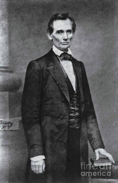Us Civil War Digital Art - Abraham Lincoln- Mathew Brady - 1860 by Prar Kulasekara