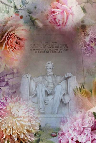 Photograph - Abraham Lincoln Memorial At Spring by Marianna Mills