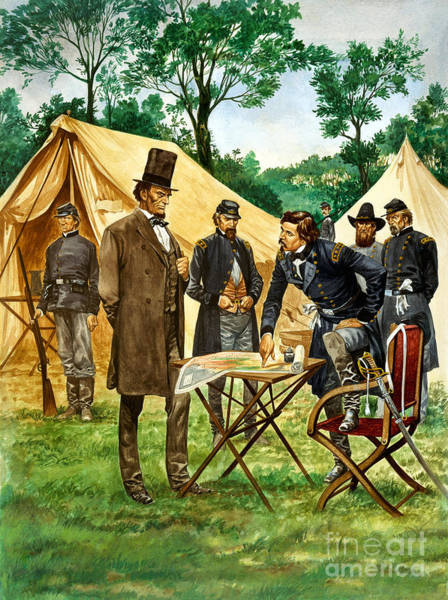 Campaign Painting - Abraham Lincoln Plans His Campaign During The American Civil War  by Peter Jackson