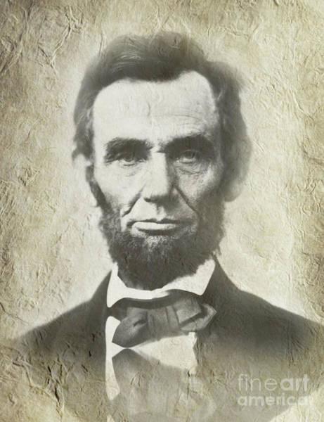 Us Civil War Digital Art - Abraham Lincoln by Prar Kulasekara