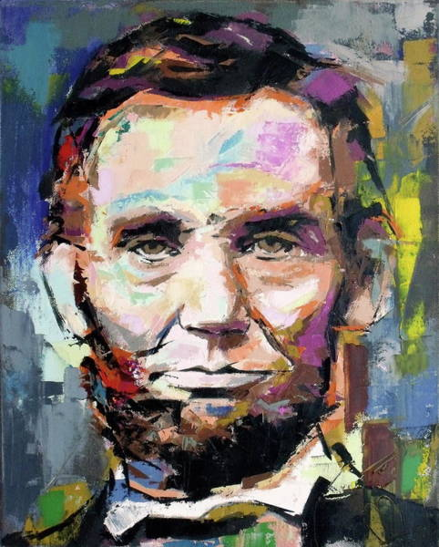 Wall Art - Painting - Abraham Lincoln  by Richard Day