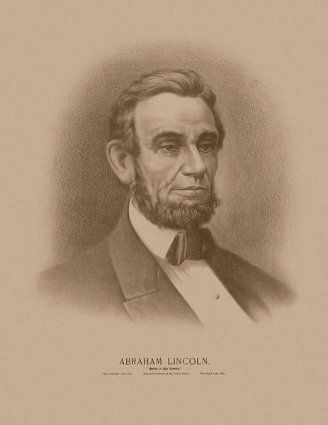 The Great Emancipator Drawing - Abraham Lincoln - Savior Of His Country by War Is Hell Store