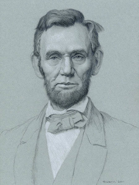 American History Drawing - Abraham Lincoln by Swann Smith