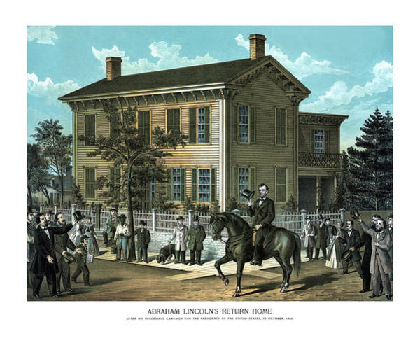 Us Civil War Wall Art - Painting - Abraham Lincoln's Return Home by War Is Hell Store