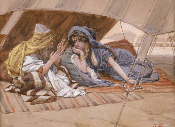 Painting - Abram's Counsel To Sarai by James Tissot