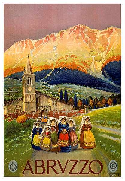 Long Dress Painting - Abruzzo, Italy by Long Shot