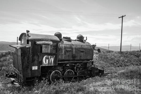 Wall Art - Photograph - Abandoned Mine Locomotive Butte Montana by Edward Fielding