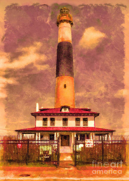 Digital Art - Absecon Lighthouse 2015 by Kathryn Strick