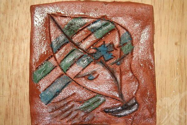Ceramic Art - Absence - Tile by Gloria Ssali