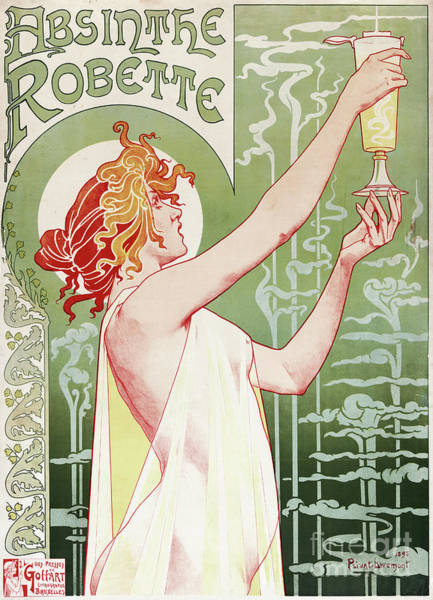 Wall Art - Painting - Absinthe Robette Vintage Poster by Privat Livemont