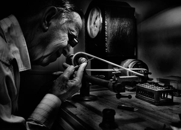 Concentration Wall Art - Photograph - Absolute Precision To The Exact Time by Antonio Grambone